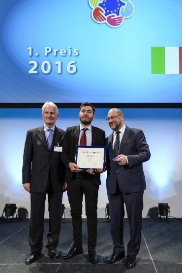 European Charlemagne Youth Prize 2016.Award ceremony